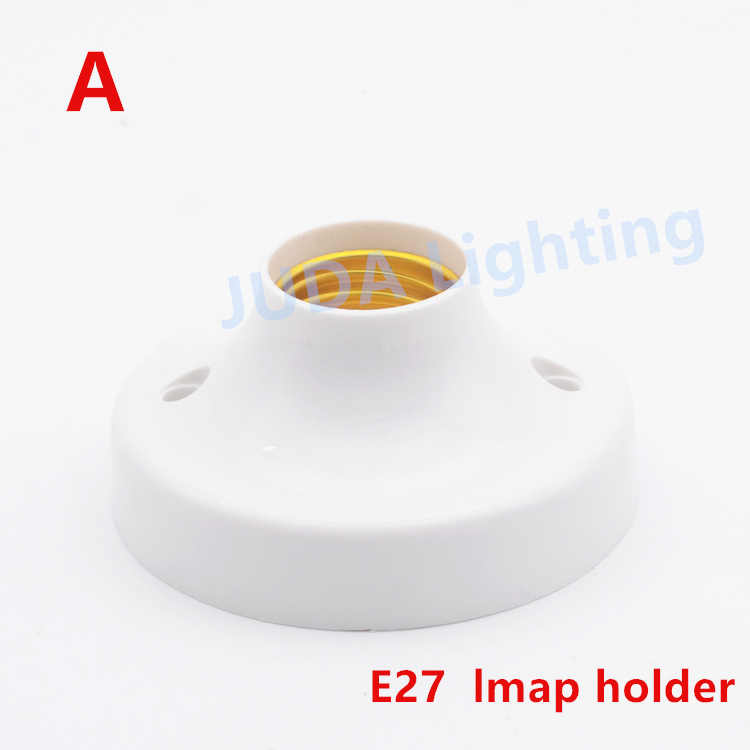 ABS Plastic shell screw E27 lamp holder for ceiling light led light bulbs light socket lamp base wall lamp fittings diy