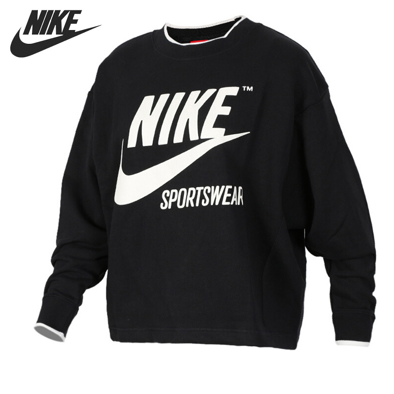 Original New Arrival 2017 NIKE AS W NSW CREW ARCHIVE Womens Pullover Jerseys Sportswear