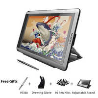 HUION KAMVAS GT-156HD V2 Pen Display Monitor 15.6 inch Digital Graphics Drawing Tablet Monitor with 8192 Levels and Free Gifts