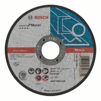 BOSCH 2608603395 Disc abrasive cutting straight Expert Metal 115x3mm