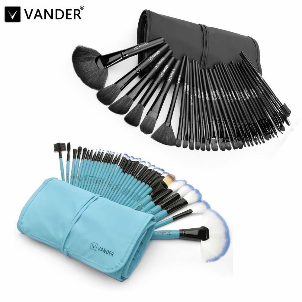 VANDER 32Pcs Makeup Brushes Professional Soft Cosmetics Make Up Brush Set Kabuki Foundation Lipstick Beauty Tools maquillaje free shipping durable 32pcs soft makeup brushes professional cosmetic make up brush set