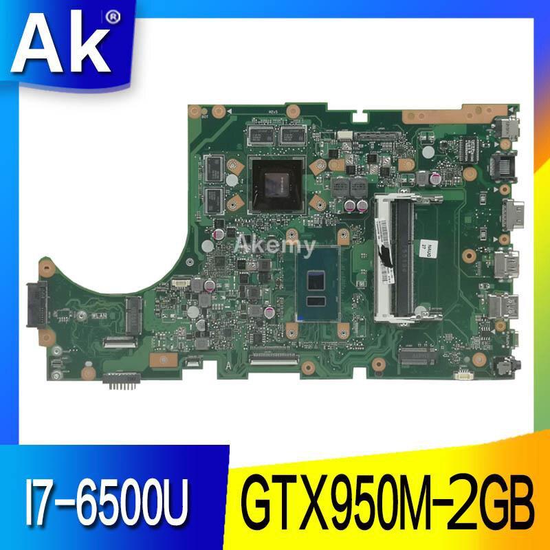 AK X756UX MAIN_BD. carte mère d'ordinateur portable pour Asus X756U X756UXM K756U X756UB carte mère DDR3 I7-6500U/AS GTX950M-2GB test ok