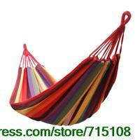 Thick Outdoors Canvas Hammock Casual Hammock Swings Trip Accessories Children's Amusement Park Swings Home Garden Decor