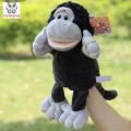 Infant Children Hand Puppet Big black gorilla kids baby plush Stuffed Toy Puppets toys Christmas birthday gift