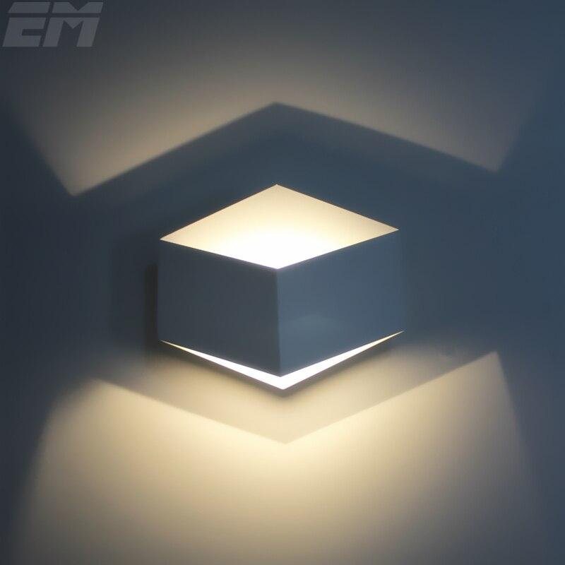 Краткое 3D Дизайн лампы современный дом Освещение светодиодный настенный светильник 220*195*80 мм 3 Вт до Подпушка свет лестница света ночники ...