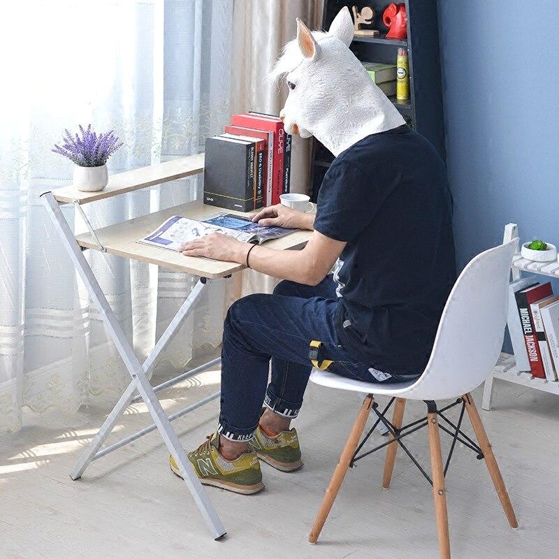 Table de dîner portative moderne de bureau se pliante simple d'installation libre 60*40 cm