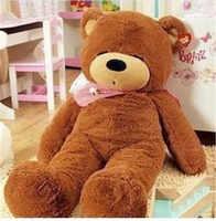 Peluches al por mayor, 60cm, 100, 2m, 2,3 m, ojos enormes, oso cerrado, productos semiacabados, muñeca de piel de oso, regalo de Navidad/Cumpleaños