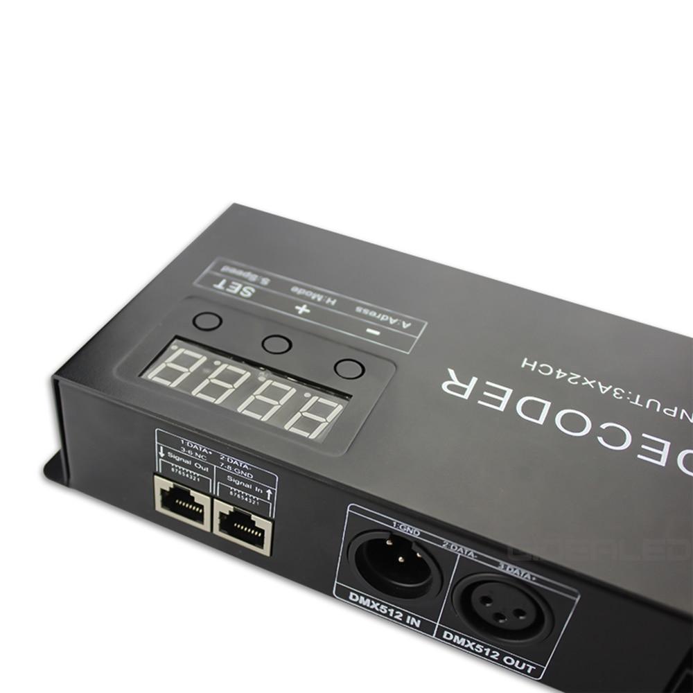DIY 24-kanals DMX-avkodare för 8-grupp RGB LED Strip Controller 72A - Belysningstillbehör - Foto 3