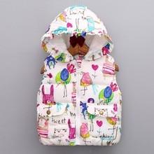 hot deal buy kids girls winter cartoon animal jackets hooded graffiti parkas outerwear coats