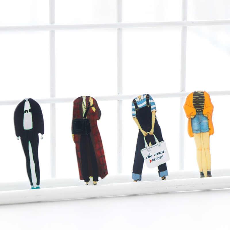 Phim hoạt hình Cá Tính Acrylic Trâm Cho Quần Áo Boys and Girls Pins Khác Nhau Phong Cách Ăn Mặc Jeans Áo Sơ Mi Quần Áo Phù Hiệu Pin