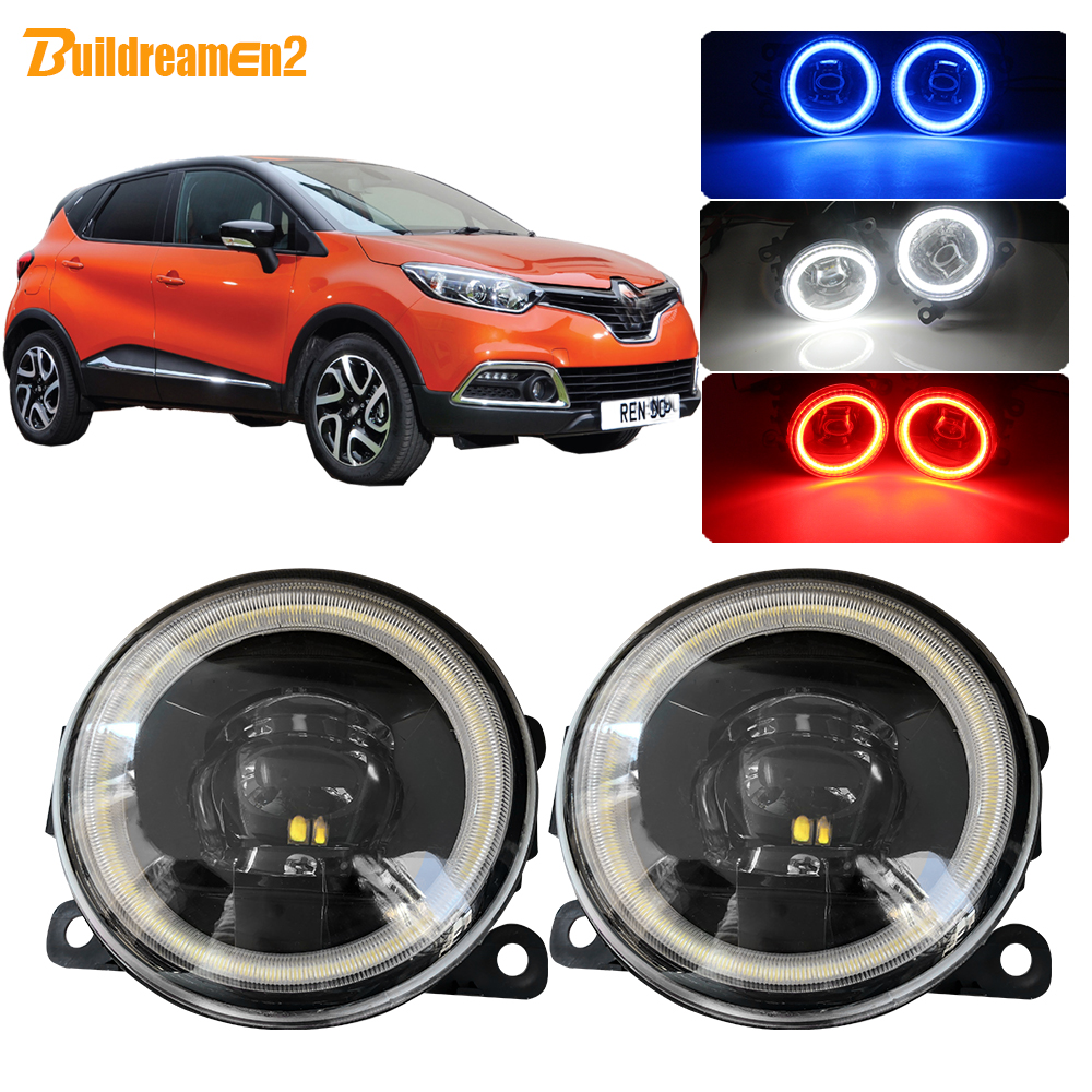 Buildreamen2 For <font><b>Renault</b></font> <font><b>Captur</b></font> Car 4000LM <font><b>LED</b></font> Bulb Fog Light Angel Eye Daytime Running Light DRL 12V 2013 2014 2015 2016 2017 image