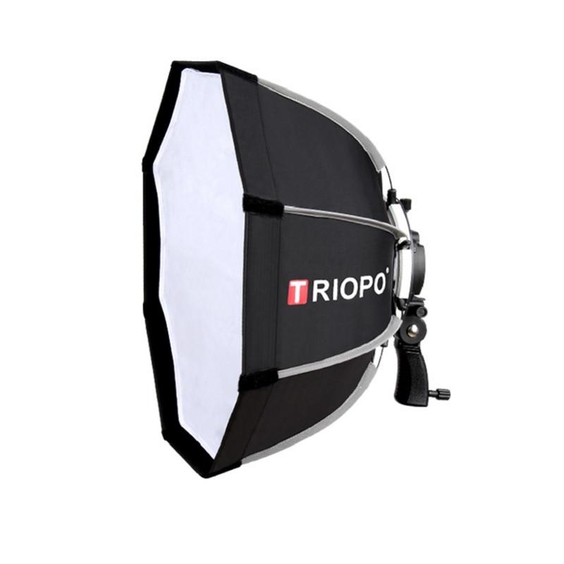 Mcoplus Triopo 55 centímetros Octagon Softbox Guarda-chuva Para Godox V860II TT600 TR-988 TT685 YN560 III IV JY-680A Flash Speedlite Suave caixa