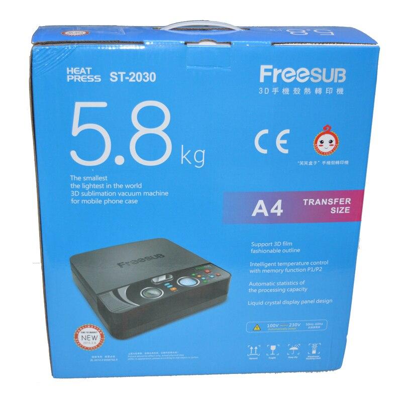 4 шт. ST 2030 3d вакуумная Сублимация/мини цифровая теплопередача/термопресс машина для телефона чехол печать обложек - 5