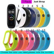 Mi Band 4 Strap Bracelet For Xiaomi Mi Band 3 Silicone Pulsera Correa For Xiaomi NFC Miband 4 3 Smart Wristband Wrist Belt 7 Pcs недорого