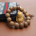2017 New arrive High-grade Wenge wood Prayer Beads Bracelet Elastic Buddha wood Bracelet Buddhist prayer beads 1.5 1.8cm