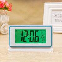 Electronic Alarm Clock LED With Temperature Digital Clock Nightlight Table Clocks Multifunction Student Desk Watch