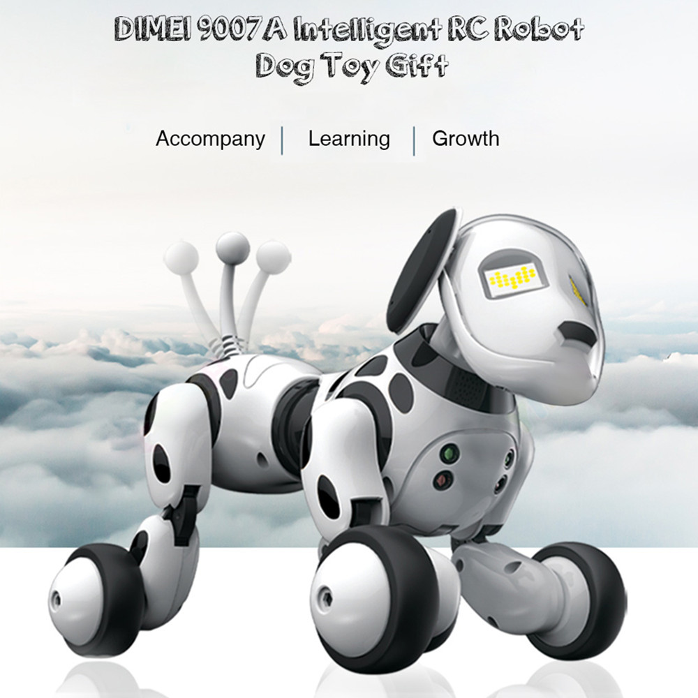 Wireless Remote Control Smart Robot Dog 2.4G Intelligent Talking Robot Dog Toy Kids Toy Electronic Pet Birthday Gift DIMEI 9007A pet safe electronic shock vibrating dog training collar with remote control 2 x aaa 1 x 6f22 9v
