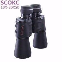 SCOKC 10-30X50 power zoom Binoculars for hunting professional  monocular telescope high quality binoculars telescope