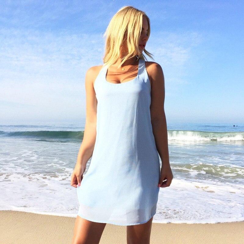 Summer dress 2018 summer style women casual sundress plus size women clothing beach dress chiffon women dress 4