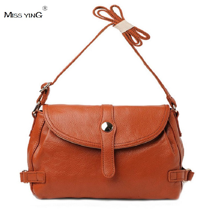 ФОТО MISS YING 2016 New Women Genuine Leather Handbags Brand Women Messenger Bag Ladies Casual Shoulder Crossbody Bags For Women