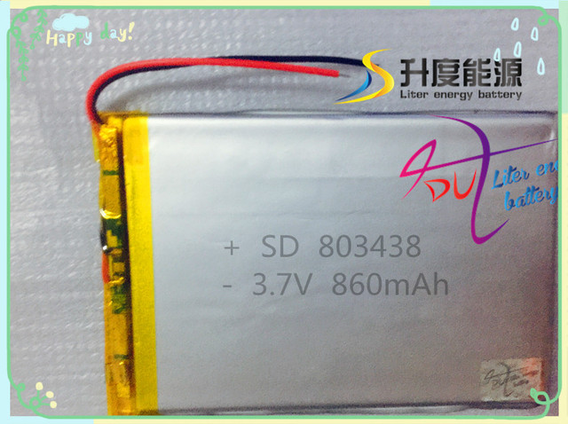 SD small capacity battery lithium 803438 860mAh