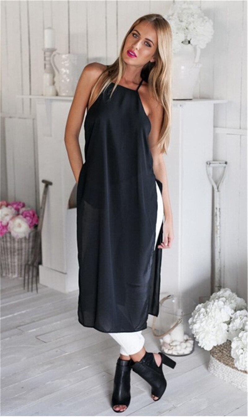 a7ab5991151 2015 Tshirt Maxi Dresses Women T Shirt Dress High Side Split Shirt Pretty  Chiffon Vestidos