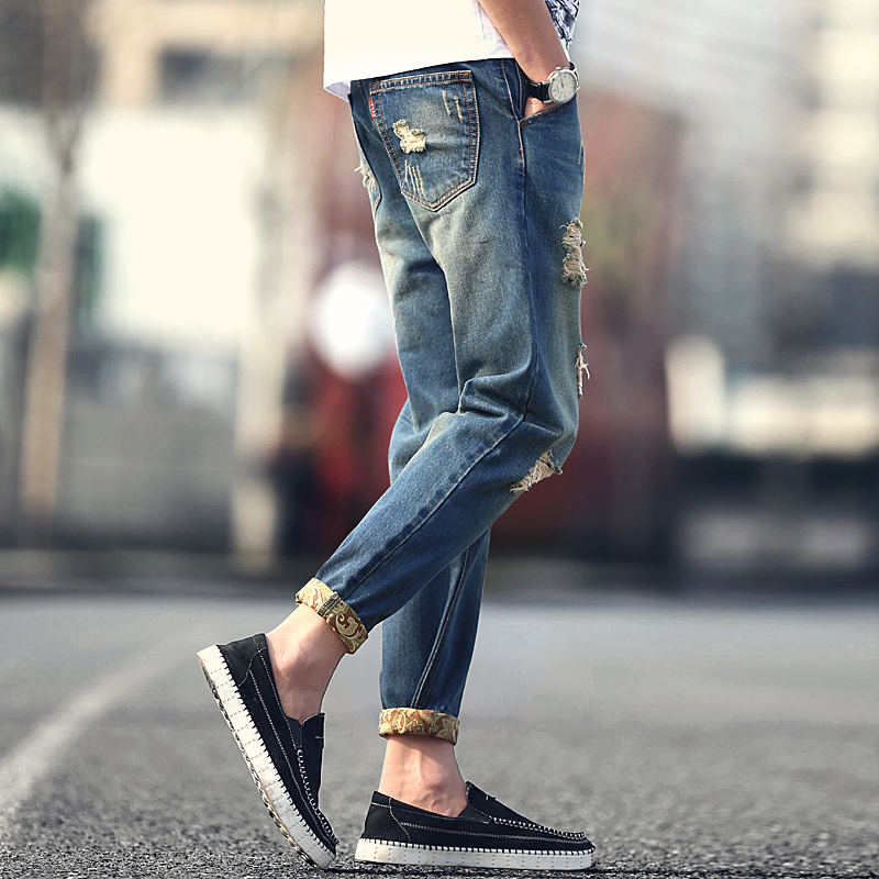 Aliexpress.com : Buy jeans destroyed men 2016 new fashion retro ...