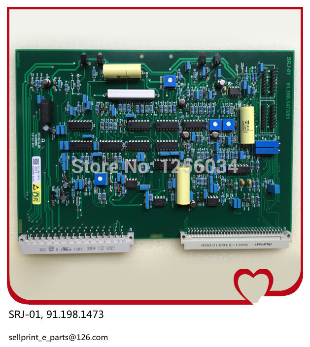 high quality 1 piece SRJ board HDM 91.198.1473 Heidelberg alcohol waterway current regulation board, SRJ-01 цены онлайн