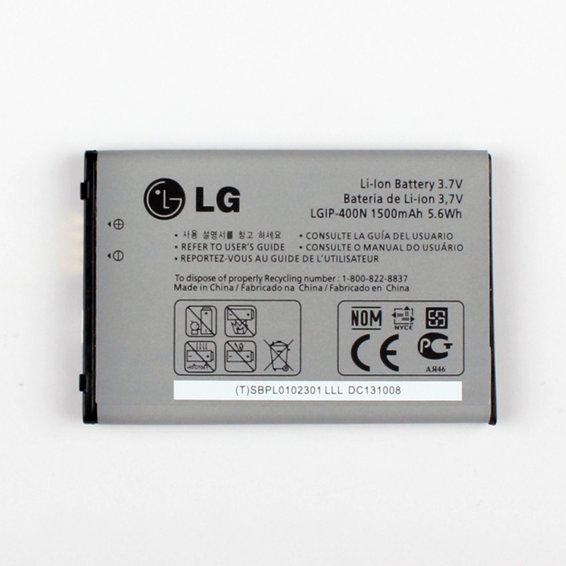 Original LG P500 Battery for LG OPTIMUS M/C/U/V/T/S/1 VM670 LS670 MS690 P500 P509 P503 P520 LGIP-400N 1500mAh
