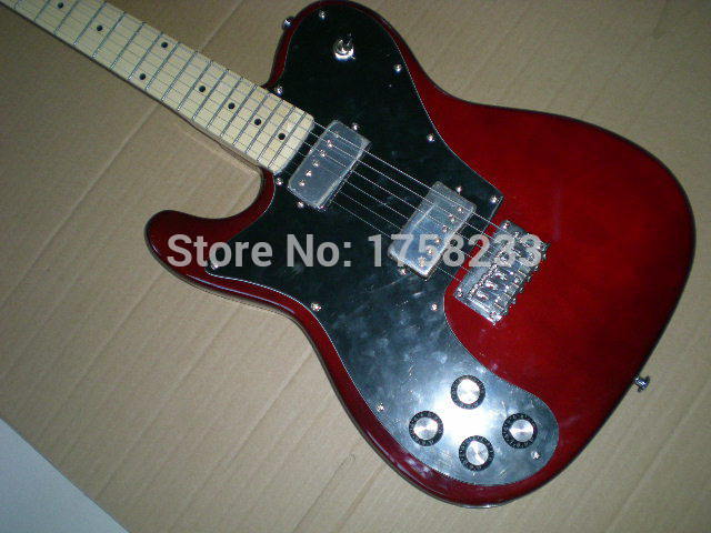 все цены на Telecaster guitar High Quality red tele Left hand guitar telecaster electric guitar Double bread edge in stock в интернете