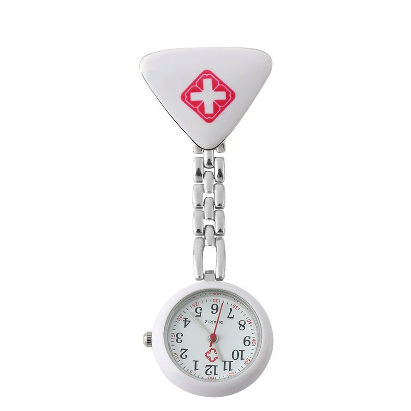 Clip Doctor Pendant Pocket Quartz Watch Red Cross Brooch Nurses Watch Fob Hanging Medical Reloj De Bolsillo Classic Convenient
