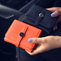 Women Leather Wallets Card Holder Coin Purse For Girls Female Short Wallet Solid Clutch Mony Bags Carteira Feminina 2016 New