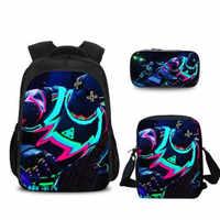 Boys and Girls Mochila Infantil Hot Game Battle Royale Children Schoolbag Famous Cartoon Character Backpack for Teenager