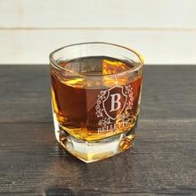 На заказ виски стекло, с монограммой виски стекло es, выгравированные виски стекло es, подарки для мужчин