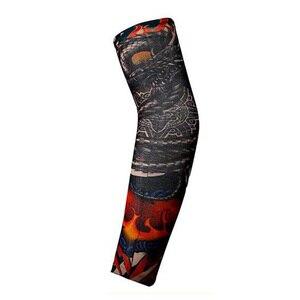 Esportes ao ar livre braço mangas protetoras homem tatuagem braço mangas perna proteção solar ciclismo halloween festa decoração