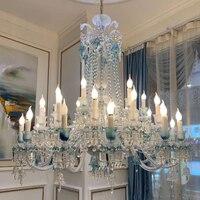 Современный светодиодный хрустальная люстра Baccarat Хрустальная висячая лампа роскошный отель Гостиная вилла Люстра для зала огни
