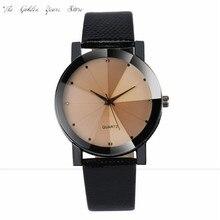 New Fashion 2017 Relogio Feminino Reloj Mujer Women watche Quartz Sport Military Stainless Steel Dial Leather clock gift 1219d40