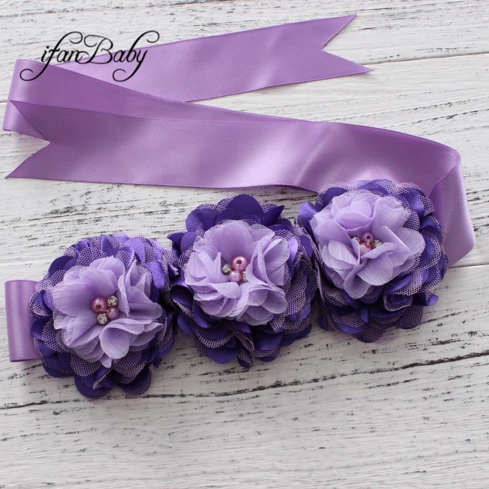 Модные туфли со стразами узор атласной ткани цветок пояса ленты для девочки пояс