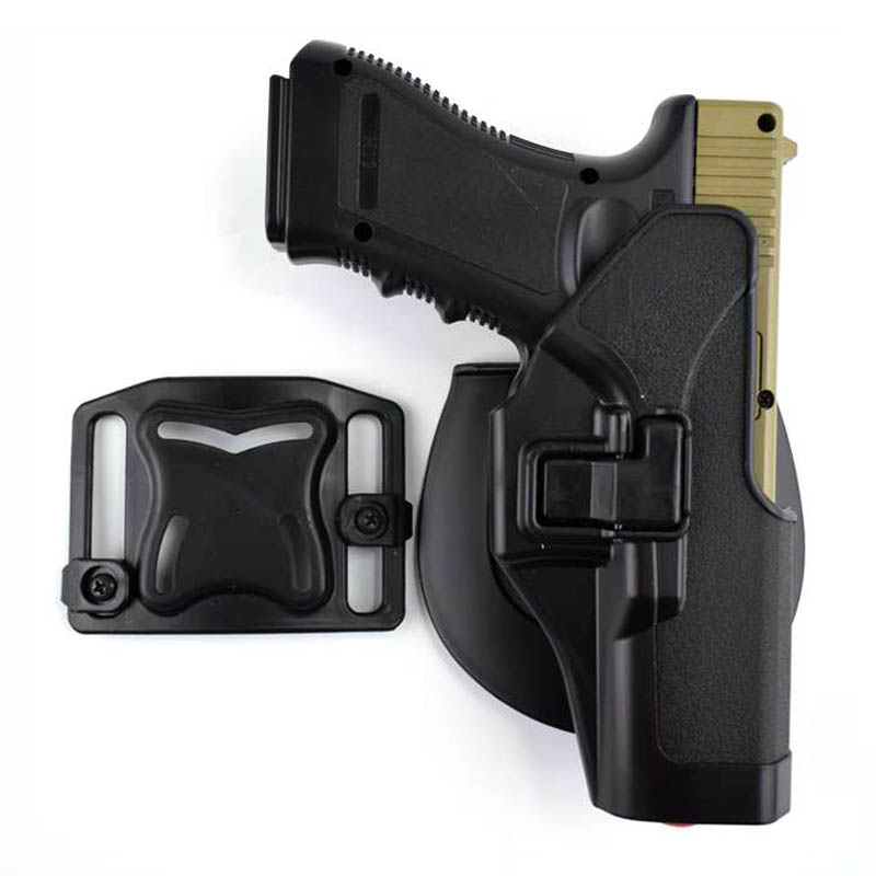 Tactical Glock 17 19 22 23 31 32 Airsoft Pistol Belt Holster Glock Pistol Hunting Accessories Gun Case Left / Right Hand