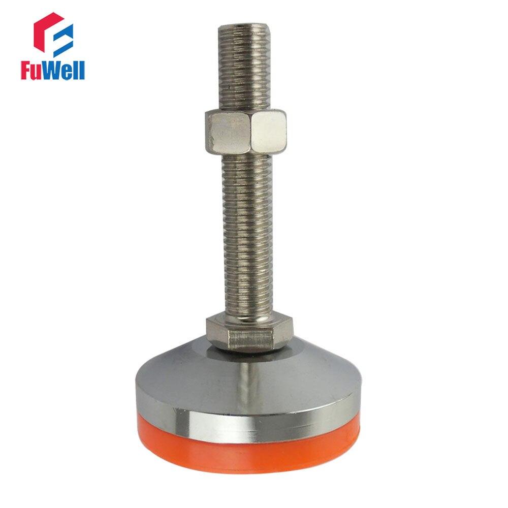 Online Shop 50X50 Mm Square Feet Plug Adjusting Leg Pad End M8 Nut
