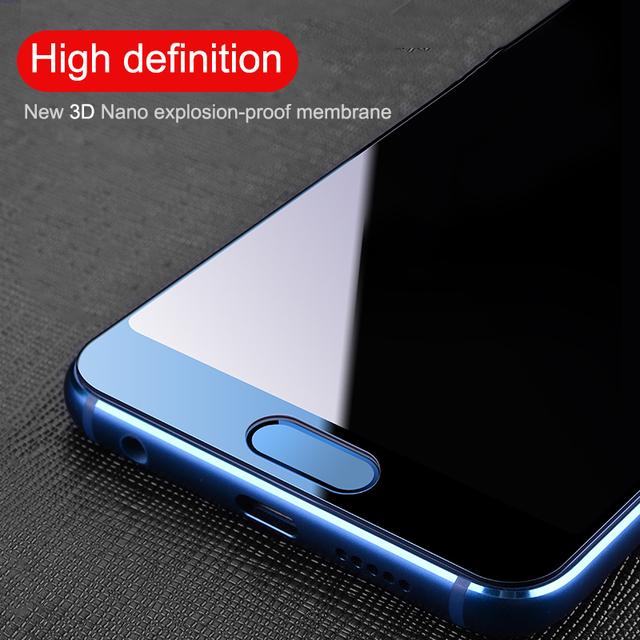 para Huawei Honor 8 9 10 Lite V9 V10 FHVUMX 3D la cubierta de vidrio templado para Huawei Honor 8 9 10 Lite V9 V10 de alta calidad protector de pantalla de cristal en la película Honor 9 10