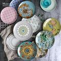 Japão Ukiyo Yamato-e Espaguete de Sobremesa placa prato De sopa de Cerâmica pratos de Porcelana de Mesa Prato bife prato de frutas Bandeja de Porcelana