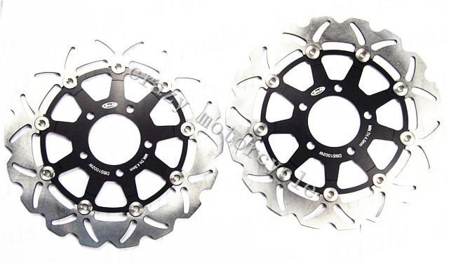 Бесплатная доставка мотоцикл тормозного диска ротора, пригодного для Сузуки СВ 650 2003-2008 СВС 650 2003-2009 Стойка
