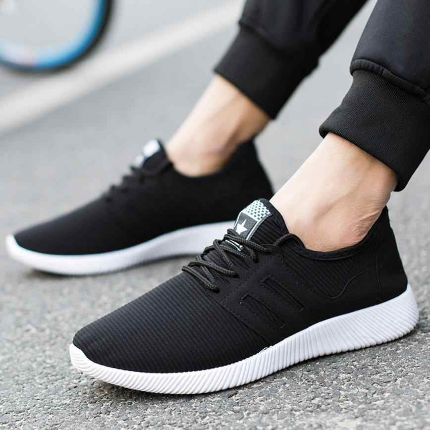 Summer Mesh Men's Sneakers Breathable Running Shoes Men Simple Style Sports Shoes Trainers Running Shoes for Male 0724