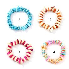 Boho Colorful Acrylic Shell Handmade Elastic Bracelet Women Summer Beach Jewelry