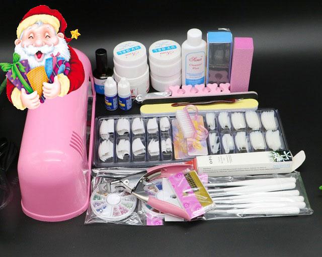 ツ)_/¯BTT-71 Free Shipping Pro Nail Art UV Gel Kits Tool UV lamp ...