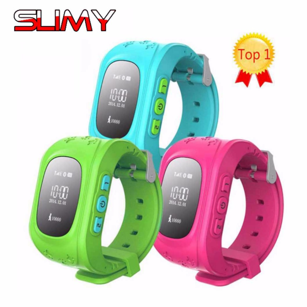Slimy Q50 Smart Watch Kid Safe Wristwatch GSM GPS Finder Locator Tracker SOS Anti-Lost Smartwatch Children Watch for iOS Android