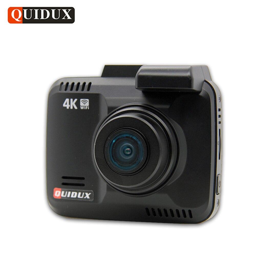 QUIDUX 4 K Résolution Super HD Voiture DVR 2160 P Vidéo Enregistreur GPS Logger Novatek 96660 Caméscope 1080 P Dashcam caméra Night Vision
