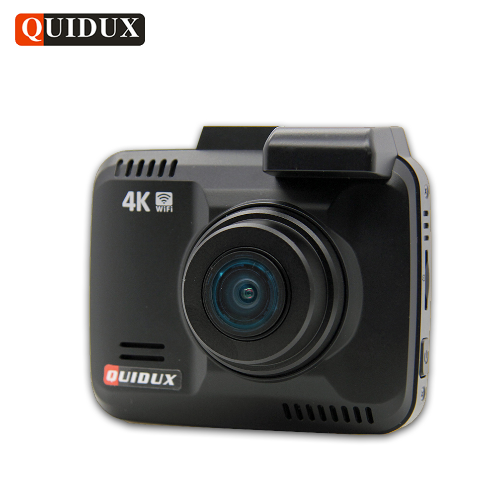 QUIDUX 4K Resolution Super HD Car DVR 2160P Video Recorder GPS Logger Novatek 96660 Camcorder 1080P Dashcam Camera Night Vision