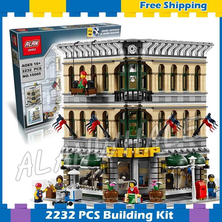 2232pcs Creator Expert Grand Emporium Construct Collection 30004 Model Modular Gifts sets Building Blocks Compatible with Lego classic lele 30004 grand emporium creator architecture building blocks bricks toys diy for children model compatible with 10211